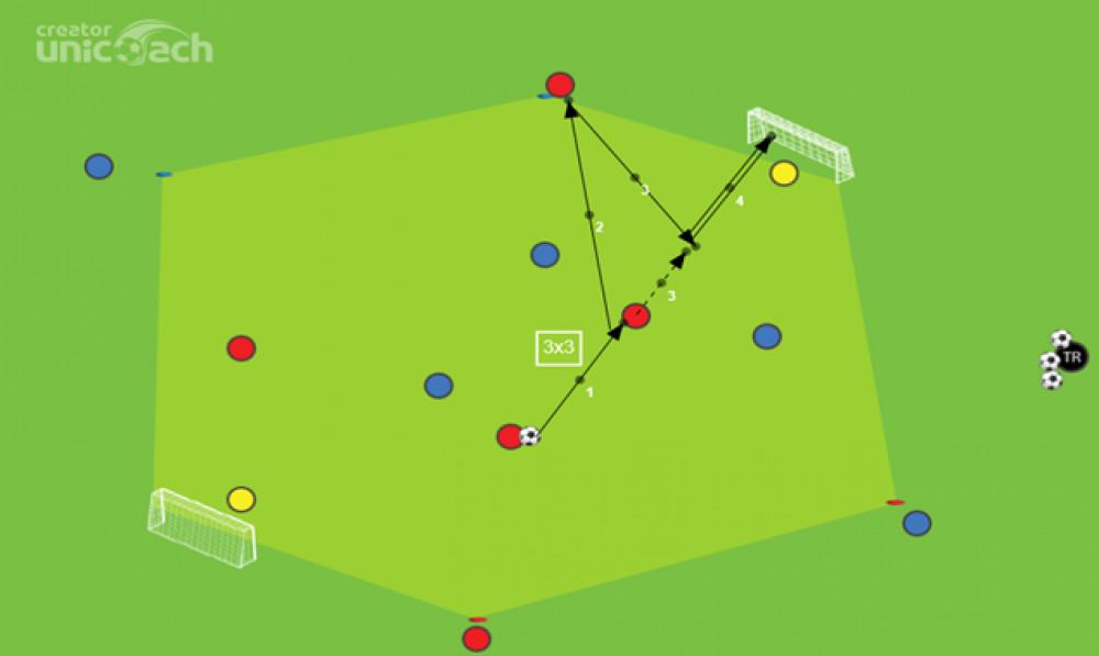 Gra 3x3 z zewnętrznymi